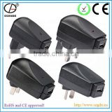 CE and RoHS Approved Plug for All Country USB Wireless Power Adapter Mobile Phone Battery Charger