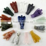 CUTE Natural Quartz Crystal Angel Carvings,natural energy crystals,crystal angel figurine