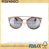 2015 Fashion quality Metal wooden Sunglasses Metal Eyeglass Frame Wooden Temple Sunglasses