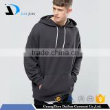 Oem with drawstring and pockets cotton grey pullovers men cut and sew elongated blank tall hoodies