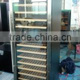 Double Glass Double Doorl Wine commercial glass door freezer stainless steel hotel restaurant refrigerator