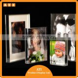 Hongkong supplier Clear Plastic Acrylic table free standing menu card display sign holder