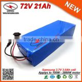 72V Li-Ion Battery Pack 21Ah Ebike Battery High Capacity for Top Smart Portable DVD Player