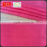 china fabric manufacturer oeko-tex standard solid crinkle viscose fabric, 30*24 135gsm dyed rayon crepe fabric