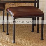 Brown Leather bar stool, Industrial Bar stool, Cheap Bar Stool.