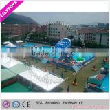 2015 water park on land with inflatable water games, adult swimming pool,steel frame pool