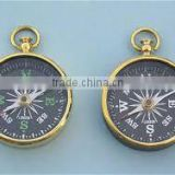 Nautical Brass 2 inch Antique / Brass flat compass / Nautical pocket compass , , Marine Nautical Brass Compass