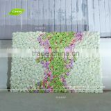 GNW FLW1610 New arrival Cheap hydrangea Silk Flower Wall for Wedding stage backdrop Decoration
