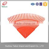 High Quality Orange 26 Tines Garden Plastic Lawn Rake Heads