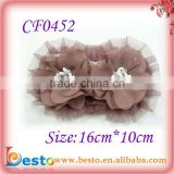 CF0452 2013 New styles fashion ladies bead chiffon goody hair accessories