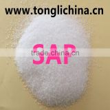 Environmental white granular long period effectly SAP super absorbent polymer for agricultural diaper golf ground water holding