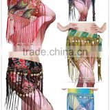 hot selling high quality handmade printed hip scarf tribal hip belt