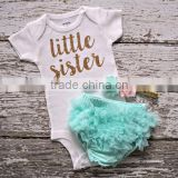 Girl Tutu Set Newborn Clothing Ruffle Baby Clothes Baby Girl Christening Gowns Party Dress Set