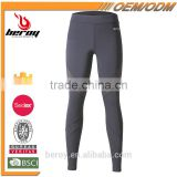 Beroy New Design High Elastic Dry-fit Running Pants Leggings with Zipper on the leg opening