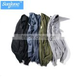 Wholesale zip up neck button hoodie manufacturer