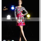 2015 long sleeve lips printed western gowns short party traditional formal evening dress