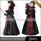 Children Cosplay Party Dress Halloween Perform Evil Queen Of Hearts Costume