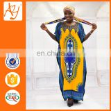 Hot sale fashion Ethnic Clothing custom dashiki african traditional dresses flower print dress