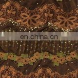 polyester net lace embroidery fabric design