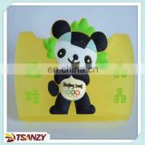 Promotional cartoon mobile phone holder,soft pvc mobile phone holder