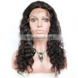 2014 new products virgin human hair lace front wig, virgin brazilian deep wave human hair lace front wig for black women