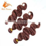 "Medium Brown Peruvian Hair Extensions 3 Pieces Color 33 Silky Straight Hair Weaving 12""-24"" Chocolate Brown Human Hair Weft"