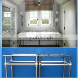 marble hotel bathroom vanity top with modern stainless leg system