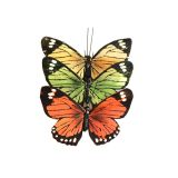 Assorted colors monarch artificial butterfly for wedding decorations