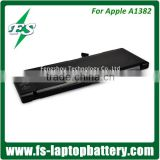 "10.95V 77.5Wh Genuine battery A1382 for APPLE MacBook Unibody 15"" A1286,2011 batteries"