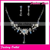 925 silver fashion indian diamond bridal imitation pearl jewelry sets