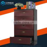 Steel Material Dressers and Modern Appearance Bedroom Dresser Coupling Home Furniture 5 Drawer Steel Dresser