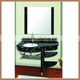 Decorative Free Standing Natural Stone High End Black Bathroom Furniture