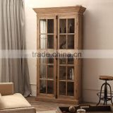 OA-4004 reclaimed wood Vintage Furniture Cabinet bookcase