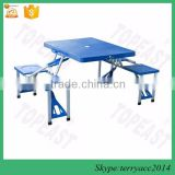 Portable Folding Outdoor Plastic Camp Suitcase Picnic Table w/ 4 Seats                                                                         Quality Choice