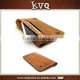 Brown Wallet Leather Case for Huawei P8 Lite , Phone Case for Samsung Galaxy J1