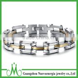 Men's Women's Stainless Steel Bracelet Link Wrist Silver Gold Polished Motorcycle Chain Bracelet
