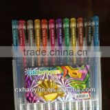 Free samples 16 colors 100 glitter gel pen