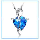 Fashion Heart Shaped Big Blue CZ Stone Silver Pendant                                                                         Quality Choice