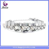 New arrival high qualit sparkling heart crystal 18k gold charming fashion bracelet ( YWH5060-7)