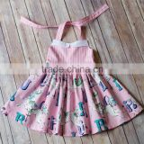 2016 wholesale girls dress carousel dress pink baby dress                                                                                                         Supplier's Choice