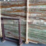 Cheap green vein onyx marble tile slab