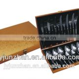 24pieces Stainless cutlery spoons with flat handle with low price ///Factory sell directly