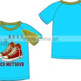Wholesale Price Toddler Boys T-shirt with chest print baby clothing kindergarten baby boys T-shirt