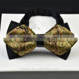 wholesale price top quality and high workmanship gold sequin glow bow tie for men                                                                                                         Supplier's Choice