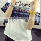 Cartoon blouse short-sleeved t-shirts students leisure large size shirt of china style t shirt