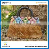 New Design elegant summer straw women beach Bag , Japanese style fashion natural women straw bag