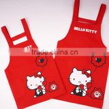 fasion cotton kids children chef wholesale cheap cartoon printed cooking apron