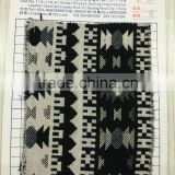 Modern Black and White Knitted Jacquard Fabric New Designs Polyester Sofa Curtain Upholsery Fabric