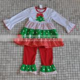 polka dots christmas tree matching ruffle pant boutique outfits