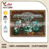 Hot Quality Cheaper Price Customized Oem Plexiglass Decorative Glass Wall Mount Sign Frame Plaques